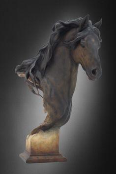 Fresian War Horse Sculpture Equus Onyx