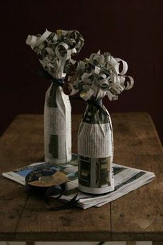 Could be cool to add body to center pieces or other paper flower arrangements.