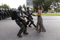 Protest photos: the power of one woman against the world