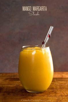 Mango Margarita Slush Recipe from crunchycreamysweet.com