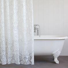 Duschvorhang mit großem Damastprint - Duschvorhänge - BAD | Zara Home Deutschland