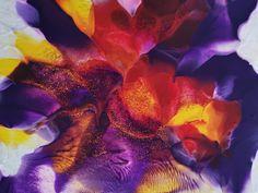 akryl Purple Orchids, Fine Art, Abstract, Nature, Artwork, Summary, Naturaleza, Work Of Art, Auguste Rodin Artwork