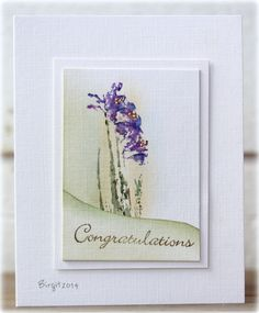 CAS269 Congratulations by Biggan - Cards and Paper Crafts at Splitcoaststampers
