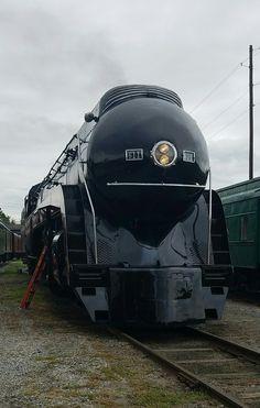Norfolk and Western Class J 4-8-4 no. 611 built in May 1950 by Roanoke Shops in Roanoke Valley