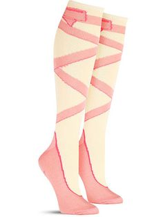 Ballet Knee High Socks from The Sock Drawer