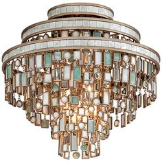 Corbett Dolcetti 3 Lights Ceiling Semi-Flush