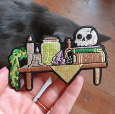 Cute Patches, Pin And Patches, Iron On Patches, Jacket Patches, Embroidery Patches, Hand Embroidery, Embroidered Patch, Cool Pins, Pin Badges