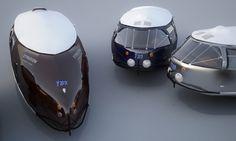 Richard Buckminster Fullers Dymaxion Car. 3D model by Jon Stone, Melbourne