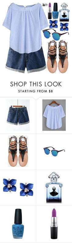 """SheIn"" by deedee-pekarik ❤ liked on Polyvore featuring Guerlain, OPI, MAC Cosmetics, denimshorts and shein"