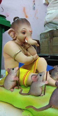 Jai Ganesh, Ganesh Idol, Shree Ganesh, Ganesha Art, Ganesha Pictures, Ganesh Images, Ganesh Bhagwan, Hindu Deities, Hinduism
