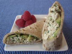 Chicken Salad Avocado Wrap