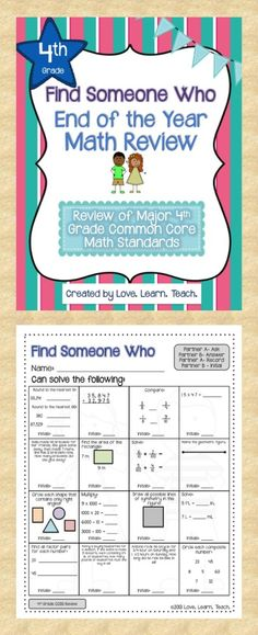 Keep your kids active and engaged the final weeks of school with a review of math concepts for 4th grade. $ #cooperativelearning #fourthgrade #commoncore