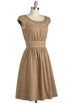ModCloth; I have to buy something from this place! Love their dresses! Maybe not this color on me, but love the polka dots!