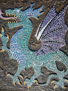 dragon and mosaic-two of my favorite things.