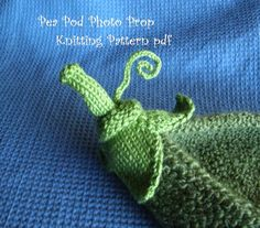 Pea Pod Photo Prop Knitting Pattern for Newborn by 4aSong on Etsy
