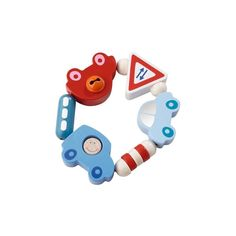 Toot Toot Clutching Toy - Wooden Teething Toy   HABA USA