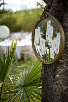 Vintage Mirror Seating Display - Spain Wedding at Can Gall from Ana Lui Photography Studio