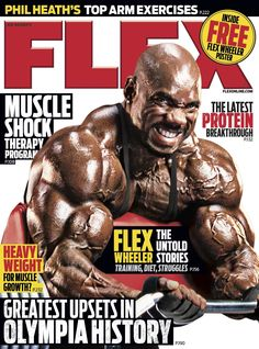 Flex Magazine cover August 2012 featuring Flex Wheeler #fitness #bodybuilding #exercise