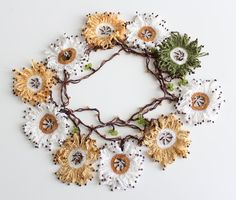 Turkish Oya necklace, Oya necklace, daisy necklace, crochet necklace, beaded necklace, lariat wrap This lovely daisy necklace is ideal accessory for the hot summer days. You can wear any time, it is elegant and fashion, goes well with every outfit. It can be worn in many different ways