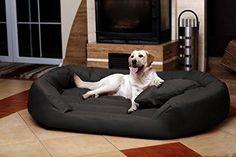 tierlando® S5-02 Sammy canapé-lit robuste pour chien taille XXL 140cm graphite anthracite
