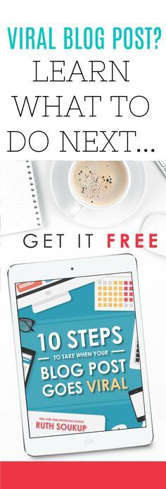 Elite blog academy freebie! Do you have a post that's going viral? Viral blog posts are amazing - Well done if you've created something amazing that people love!. Now, you deserve to get the most value from all your hard work. Follow this totally free eBook with top tips on what to do when a post goes viral, and you'll reap the rewards!  #affiliate