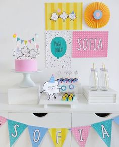 Party In A Box, I Party, Party Time, Shark Party, Party Decoration, Candy Party, Unicorn Birthday Parties, Childrens Party, Party Cakes
