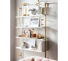 Save space and stay organized with wall shelves and floating shelves from Pottery Barn. Find wood, metal and glass shelves in various styles to complete your space. Shelves In Bedroom, Wall Mounted Shelves, Bathroom Shelves, Glass Shelves, Floating Shelves, Kitchen Shelves, Office Wall Shelves, Glass Bathroom, Shelf Design