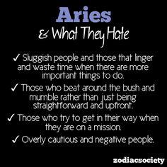 Soooooo true!! Aries
