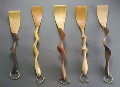 hand carved wooden spoons by David Hurwitz