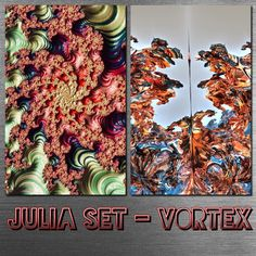 2D vs 3D - Julia Set Vortex | Metafractals, 2021. #fractalart, #spirals, #juliaset, #bulbvortex, #mandelbulb, #fraxpro, #mb3d