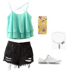 """""""Day on the beach"""" by maddy-jennings ❤ liked on Polyvore featuring Casetify, Converse and Alex and Ani"""