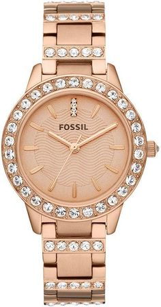 #Fossil #Watch , FOSSIL Jesse Three Hand Stainless Steel Watch - Rose ES3020