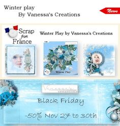 "Winter Play from Vanessa's Creations at From France! Don't miss to ""subscribe to the designer"" to follow all the releases of your favorite designer (click on the left button ...near ""add to cart""). Winter Play; http://scrapfromfrance.fr/shop/index.php?main_page=advanced_search_result&keyword=Winter+Play&categories_id=&inc_subcat=1&manufacturers_id=&pfrom=&pto=&dfrom=&dto=&x=51&y=12. 11/30/2015"
