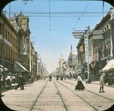 Yonge and Queen, circa (Toronto, Ontario) 🇨🇦 Toronto Ontario Canada, Toronto City, Toronto Pictures, Old Pictures, Gta, Yonge Street, Canadian Things, Beautiful Buildings, Landscape Photos