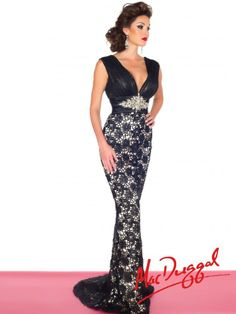 Black White Red by Mac Duggal Style 81902R now in stock at Bri'Zan Couture, www.brizancouture.com