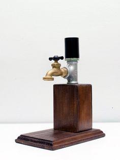 Handmade Wooden Whiskey Dispenser Alcohol by SteamVintageWorks