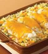 Cambell's Cheesy Chicken & Rice Casserole - we make this ALL the time LOVE it
