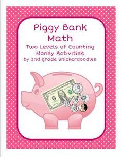 Piggy Bank Math: 2 Counting Money Activities $