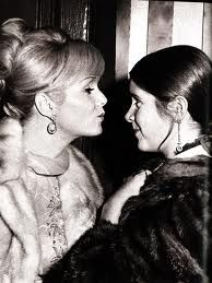 This may be one of my favorite pictures of all time...Princess Leia and her mom, Debbie Reynolds.