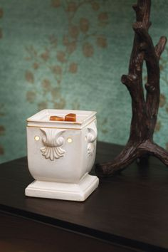 Windsor Full-Size Scentsy Warmer      Add a regal touch with a polished, square shape and exquisite scrollwork detailing.  https://aleesullivan.scentsy.us