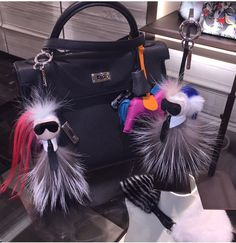 Karlito Fendi Monster fur key chain bag bug