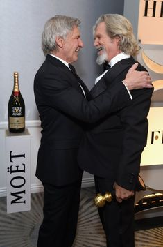 Pictured: Harrison Ford and Jeff Bridges - Getty Images for Moet & Chandon / Michael Kovac Jeff Bridges, Harrison Ford, Sandro, Globe Picture, Gina Rodriguez, Val Kilmer, Fly On The Wall, Por Tv, Indiana Jones