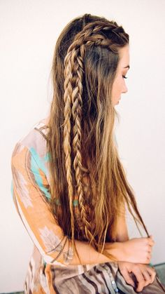 Long Boho Braids Peinados Trenzas Cabello Largo Peinados Boho Y - hairstyles trenzas boho hairstyles trenzas festival Pretty Hairstyles, Straight Hairstyles, Bohemian Hairstyles, Hairstyle Ideas, Long Haircuts, Chic Hairstyles, Festival Hairstyles, Side Braid Hairstyles, Layered Hairstyles