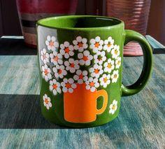 Vintage Retro Waechtersbach Daisy Flower Mug by MJayHart on Etsy, $24.50