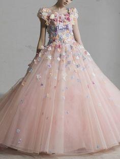 Yumi Katsura Evening for RENTAL——flower dress