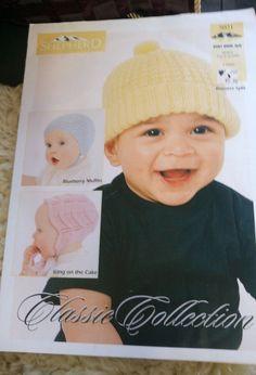 Baby Hats & Bonnet Shepherd knitting pattern 4 ply 3-6 months #Shepherd