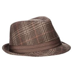 Men's hat fedora - Brown/Red