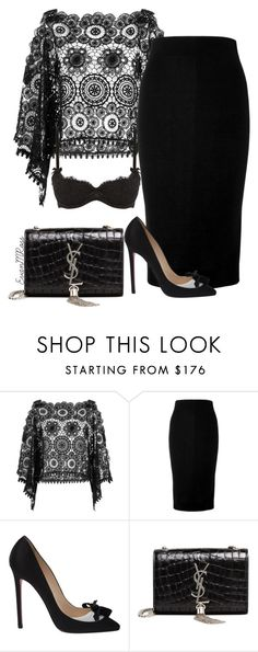 """""""Untitled #744"""" by irunaftergucci ❤ liked on Polyvore featuring ále by Alessandra, Victoria Beckham, Christian Louboutin, Yves Saint Laurent and L'Agent By Agent Provocateur"""