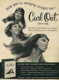1967 Posner Curl Out relaxer ad