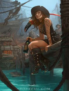 Pirate Haven Tortuga by BobKehl.deviantart.com on @DeviantArt